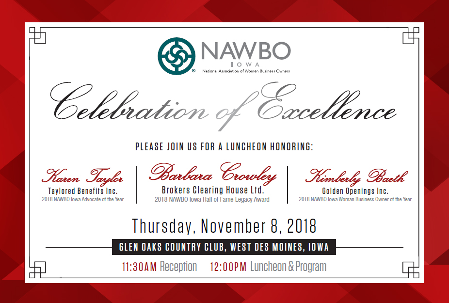 NAWBO Iowa Celebration of Excellence 2018